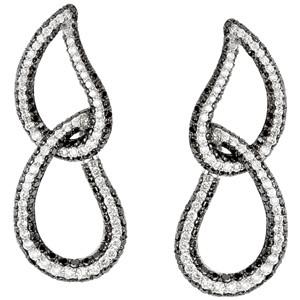 Black & White Diamon Earrings