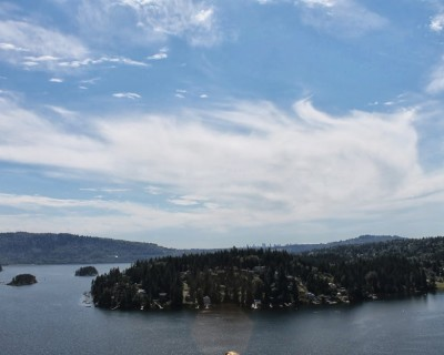 Gorgeous view from the top of Quarry Rock