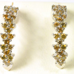 earrings yellow diamonds and gold